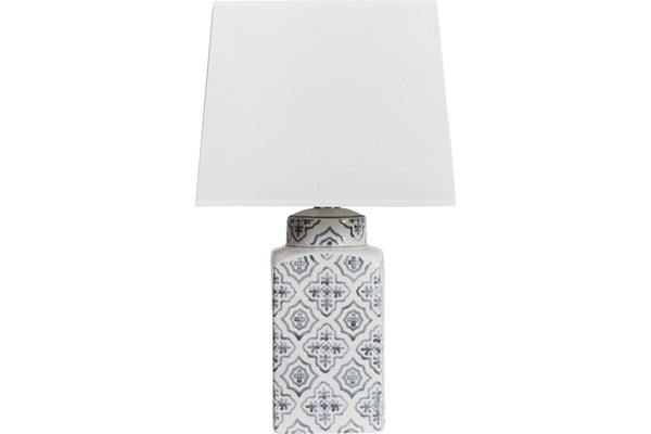 small grey and white lamp