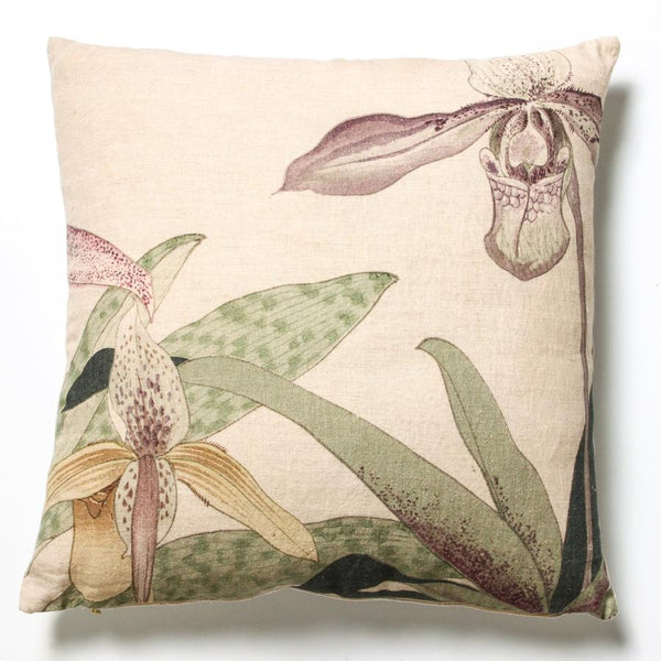 linen flower cushion - indigo love collectors