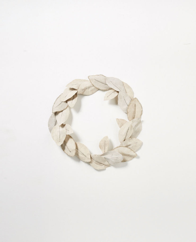 papaya canvas wreath