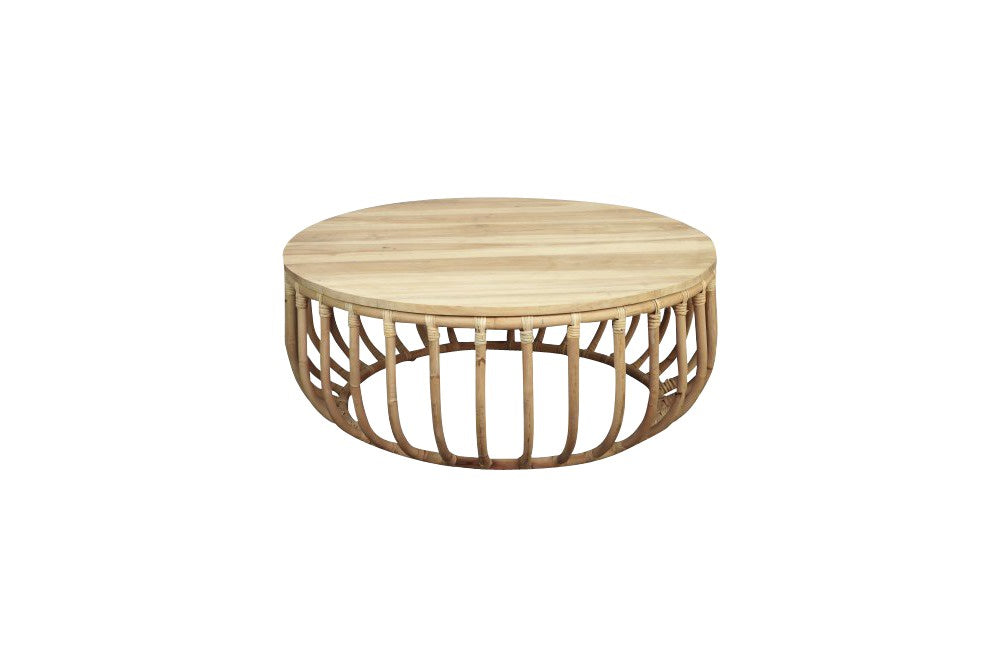 rattan coffee table for hire from the white place lifestyle and events, orange nsw