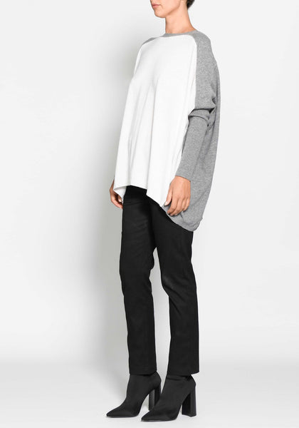 wool white and grey jumper - pol clothing