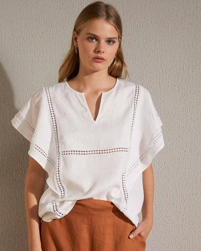 ZK white plume top - free shipping