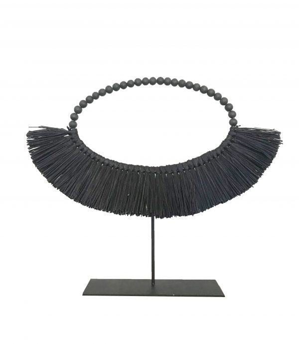 MRD maya black collar on stand - available at the white place, orange