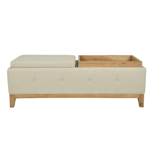 linen bed end - one world collection