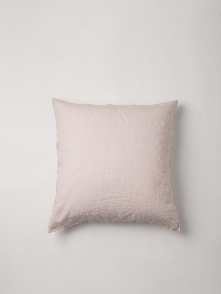 pink linen euro cushion cover - available at the white place, orange