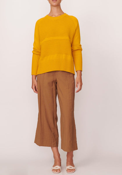 Aerial knit in saffron - free shipping