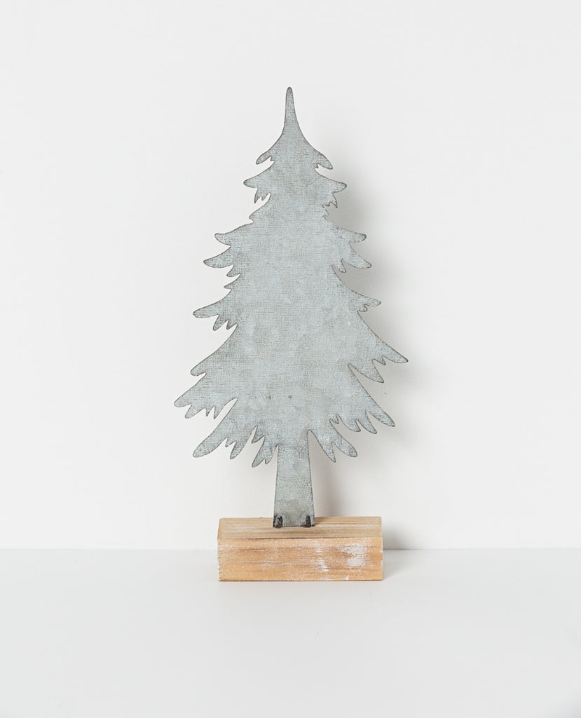 North Pole Standing tree silver 35cm H