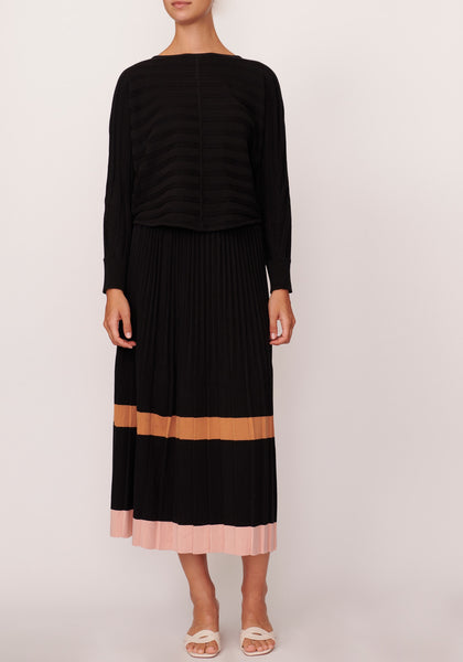 Maple Pleated Knit Skirt