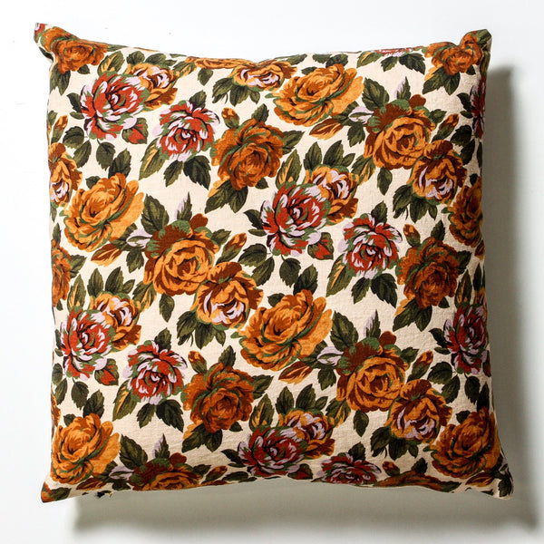 Flower Linen Cushion