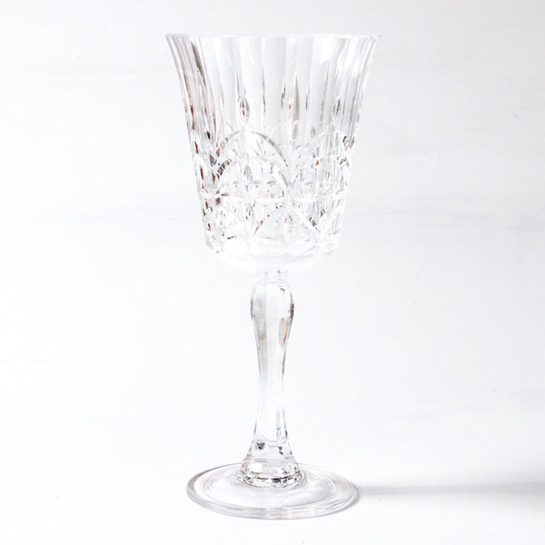 clear acrylic wine glass - available at the white place, orange