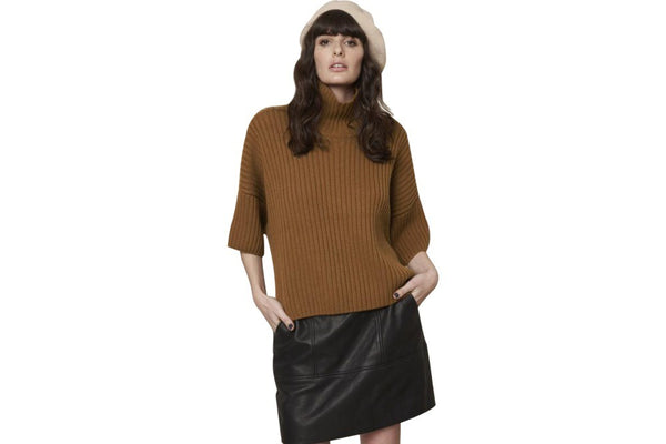 Remy Rib Box Knit Nutmeg