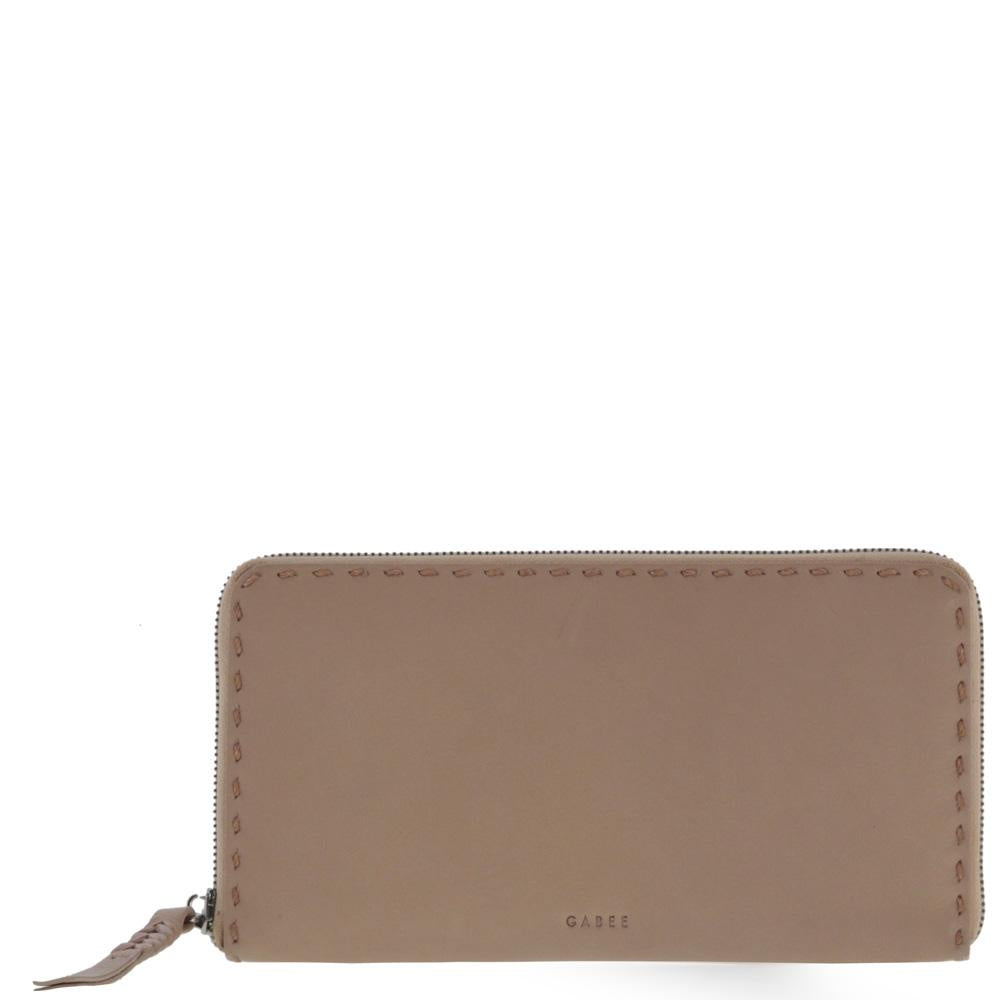 nude leather wallet - free shipping in australia