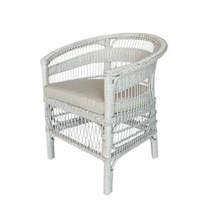 Wicker chair white