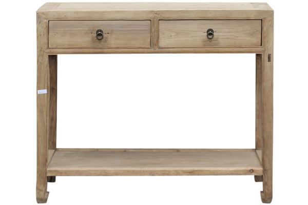 2 drawer console with shelf