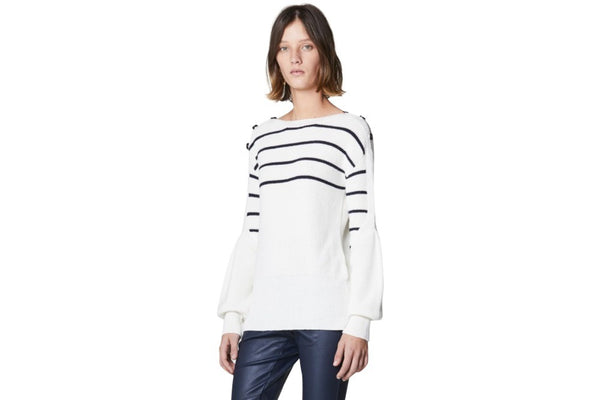 Sabina Button Shoulder Jumper