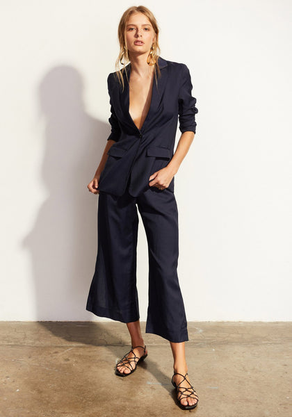 pol clothing anke navy linen jacket - free shipping in australia