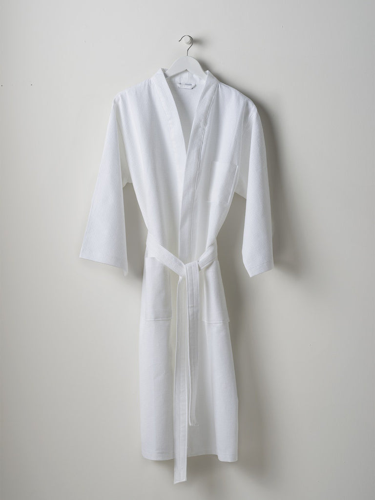 white waffle dressing gown - free shipping in australia