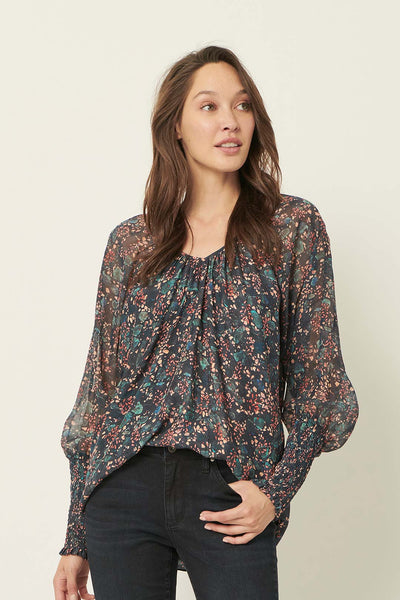 Emma forestry silk blouse