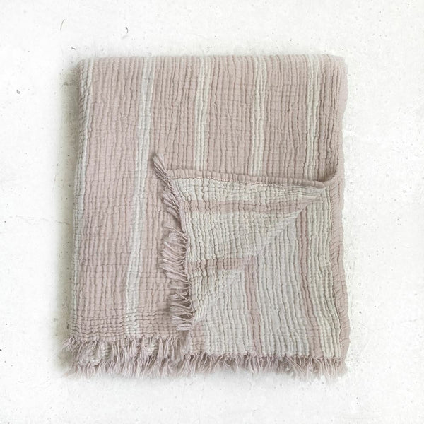 pink stripe cotton throw - free shipping in australia