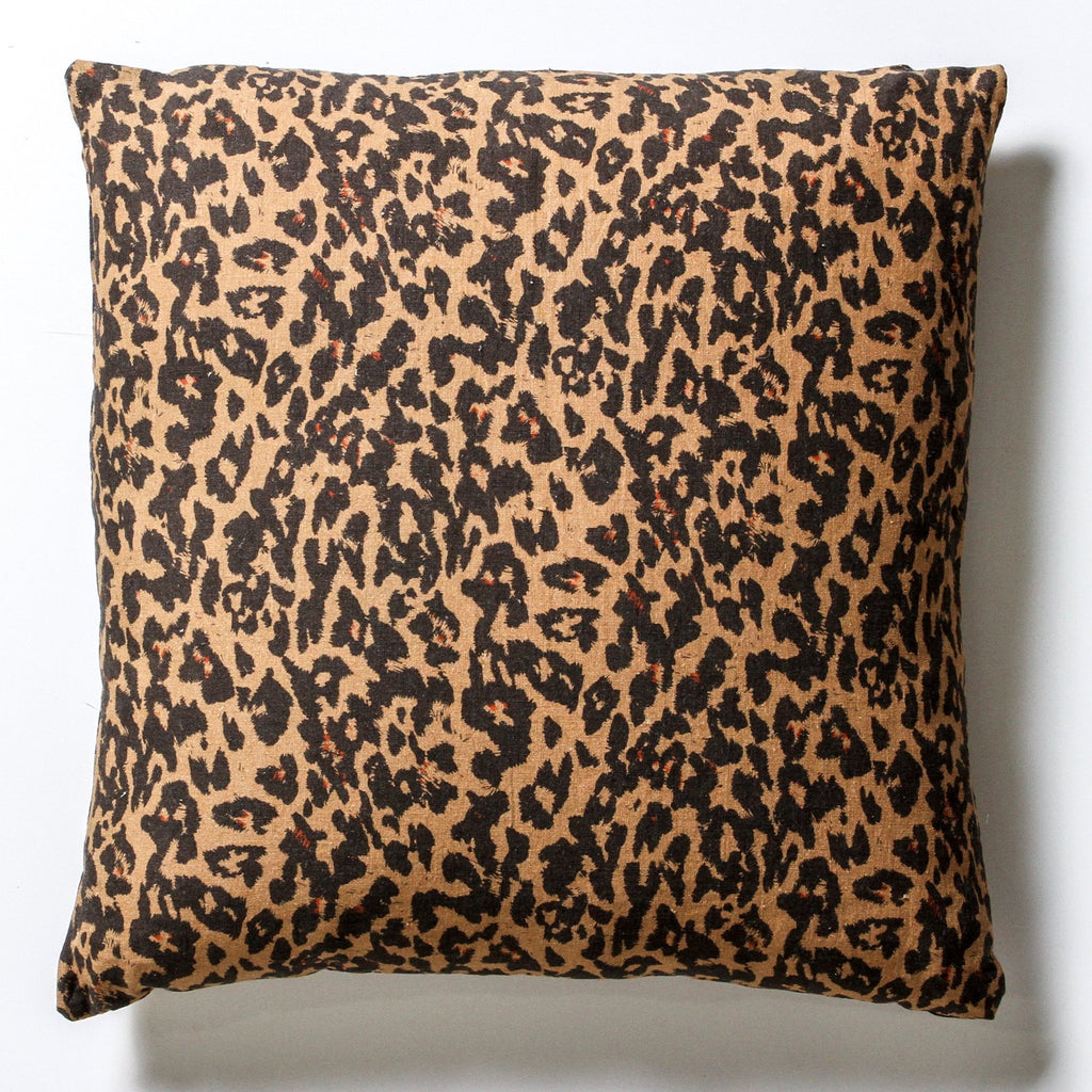 Leopard print cushion - the white place, orange nsw