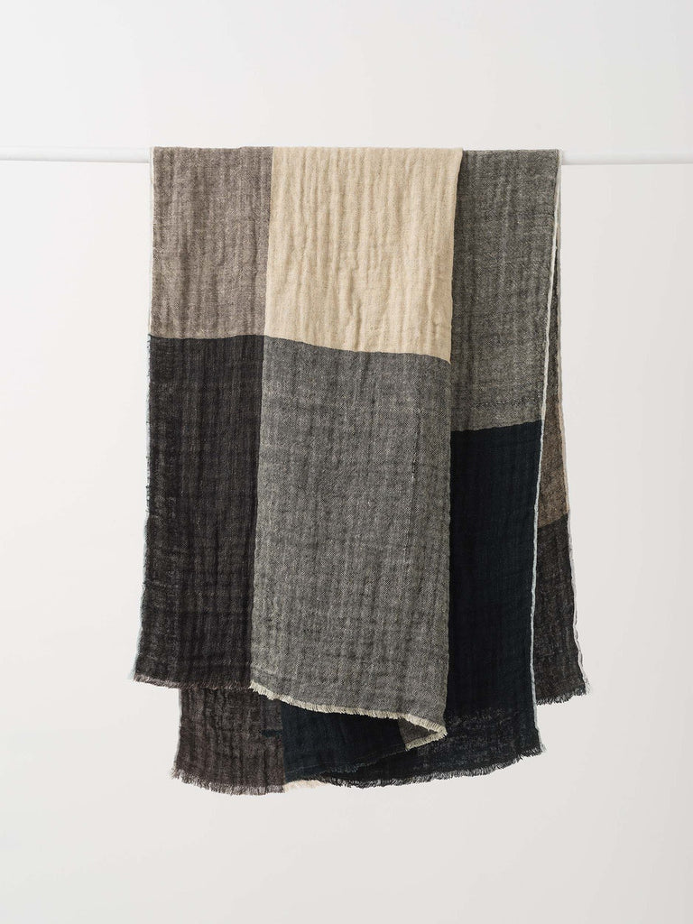 check linen throw available at the white place, orange nsw