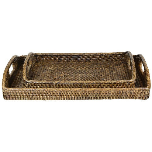 theo and joe rattan trays - available at the white place, orange nsw