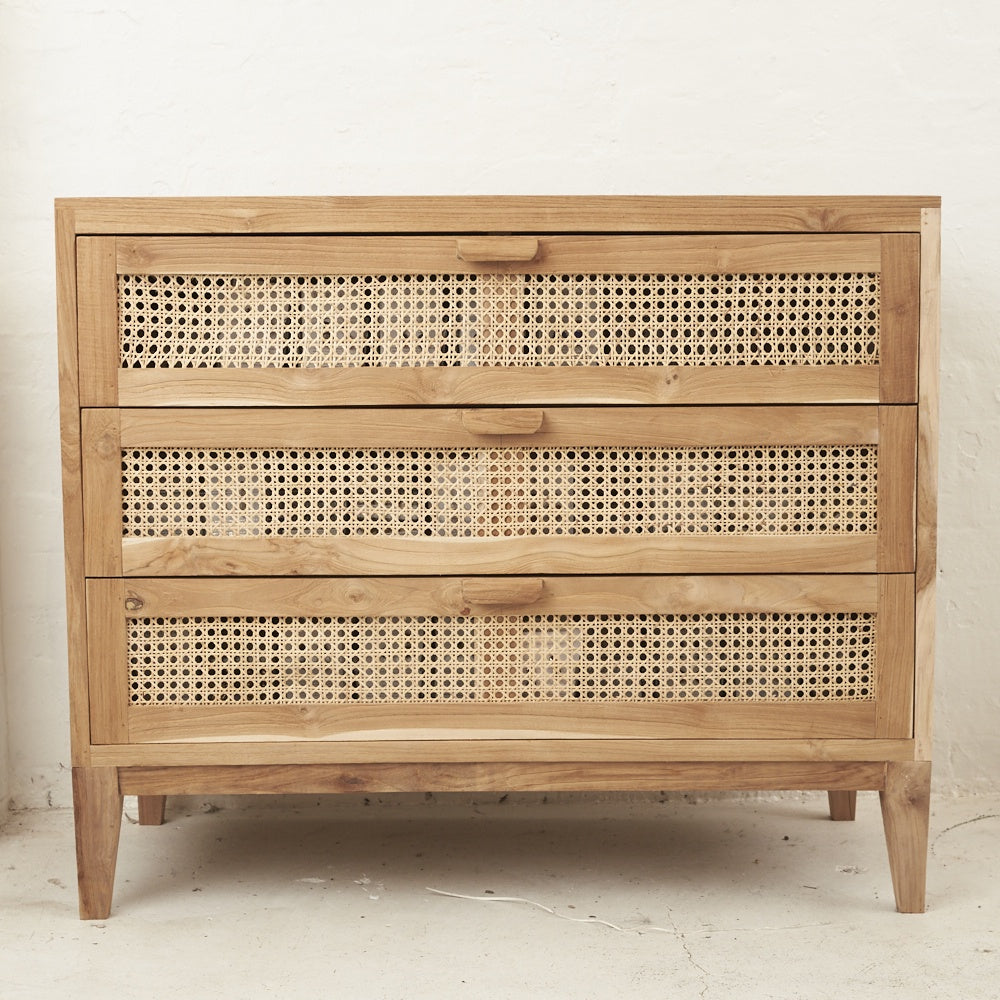 inartisan rattan and teak drawers - available at the white place