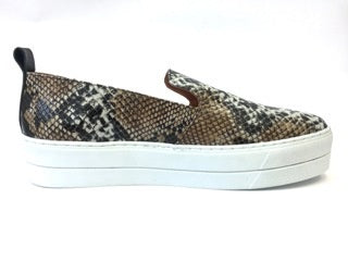 Maya McQueen Slip on Sneaker Snake Leather