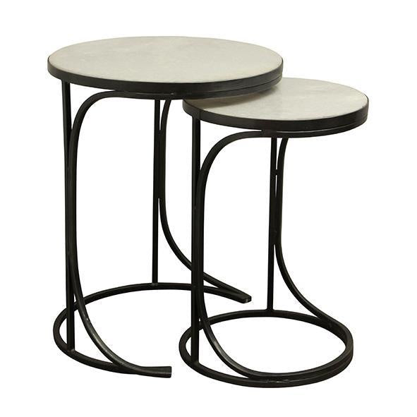 nesting tables marble