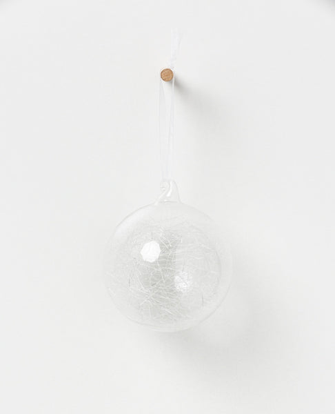 North Pole hanging glass bauble - spun glass