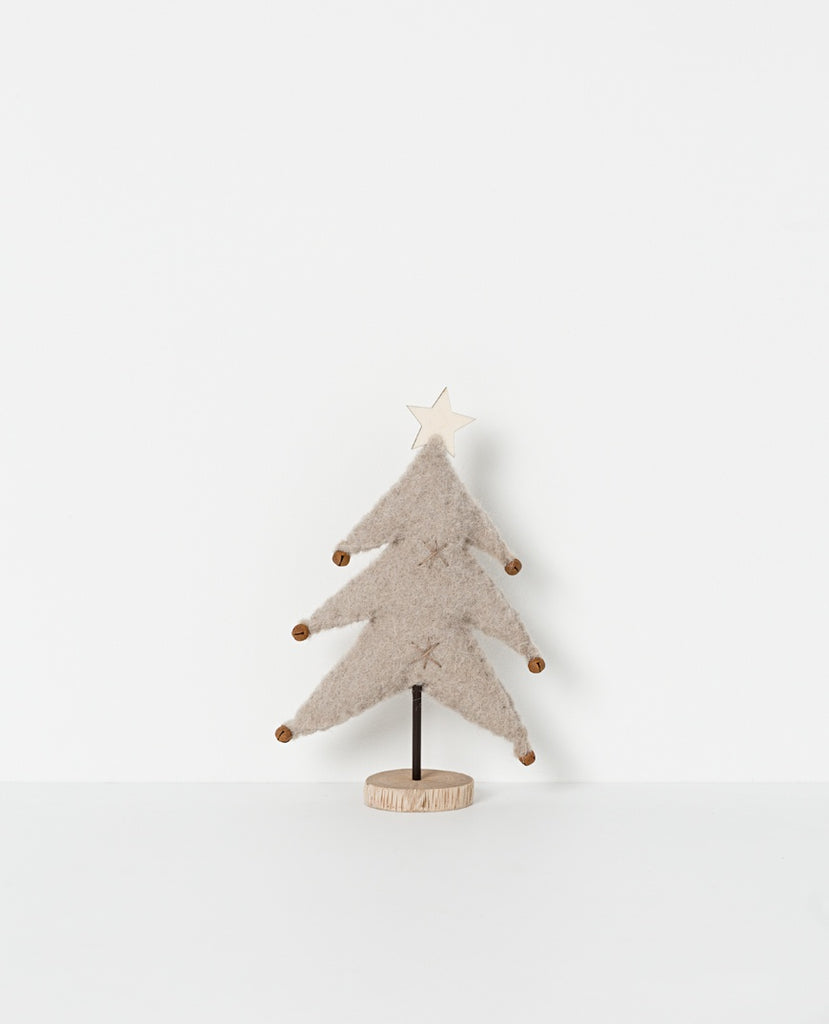 Holiday standing tree - light grey