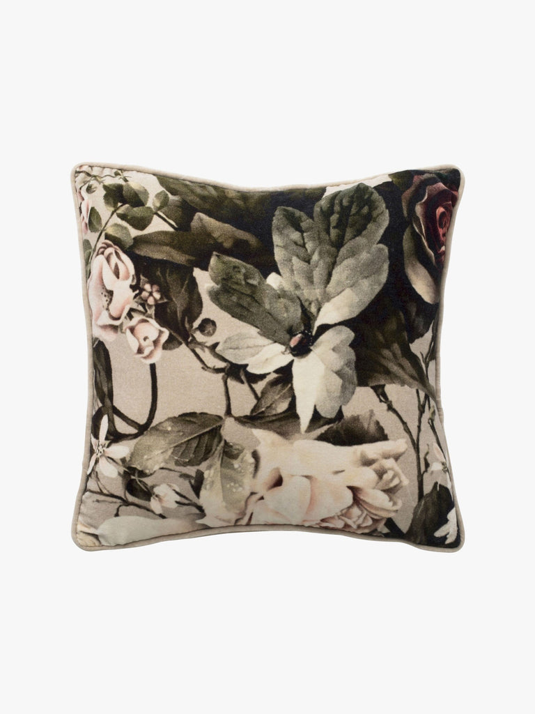 flower velvet cushion - available at the white place, orange