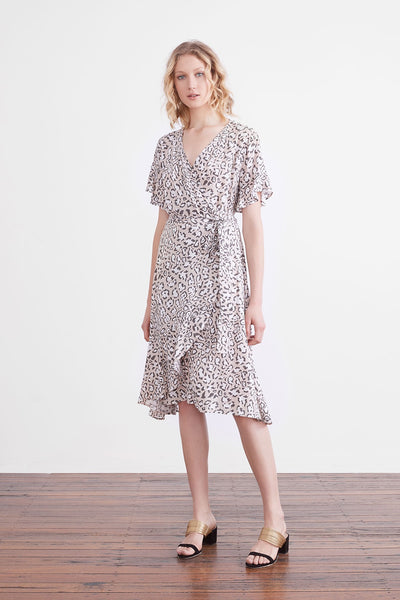 Isabel panther wrap dress