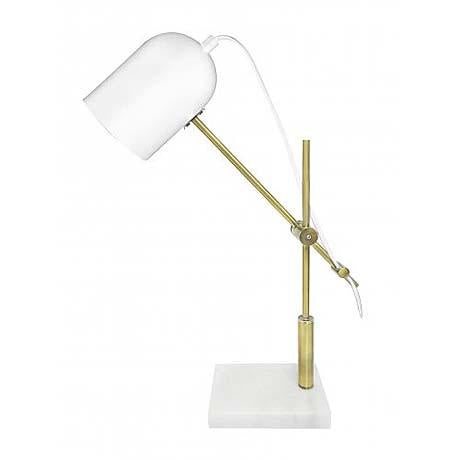 MRD Parish lamp, white, gold and marble table lamp - available at the white place, orange nsw