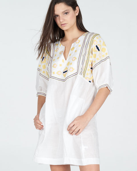 trait dress in white - free shipping