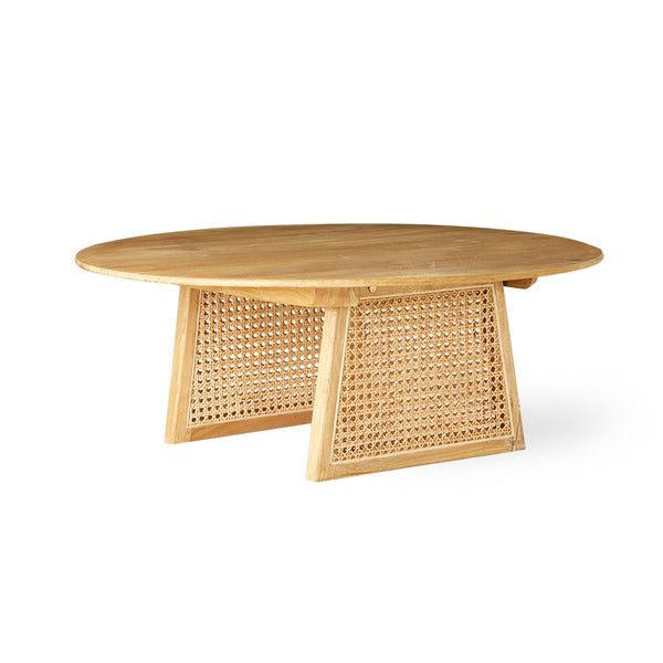 Natural webbing side/coffee table 65cm dia