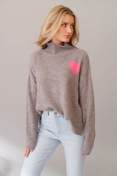 Alessandra cupid polo sweater in confetti