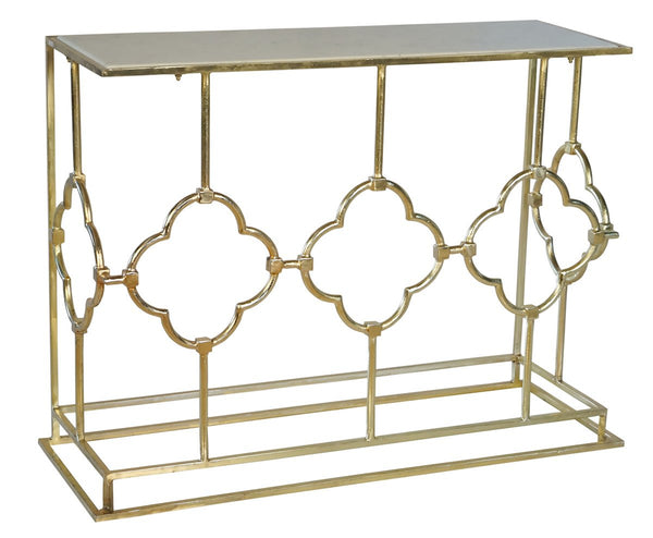 Bisque brass and marble console - available at the white place, orange nsw