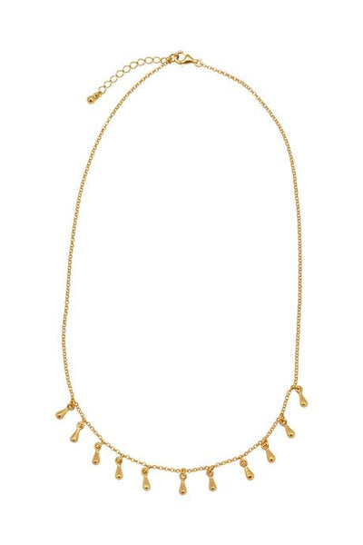 Deer Ruby gold sky necklace - free shipping