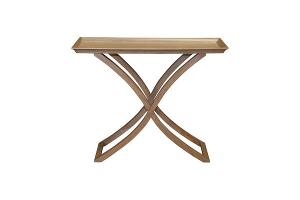 Cross leg console table 1m x 40cm w