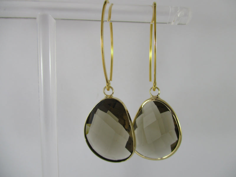 smokey quartz earring - available at the white place, orange