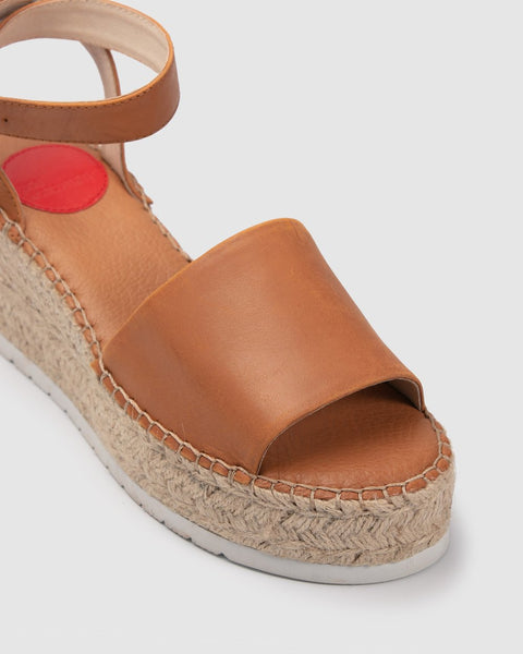 ZK tan wedge - free shipping