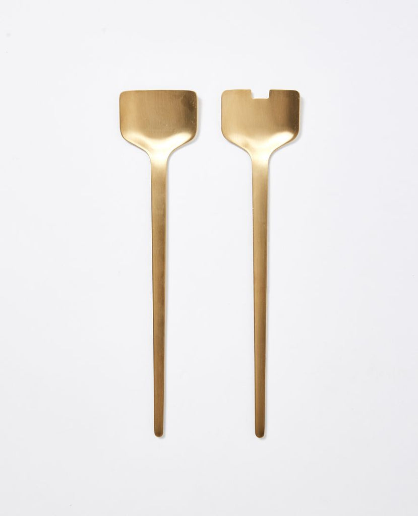 papaya brass salad servers - available at the white place, orange nsw
