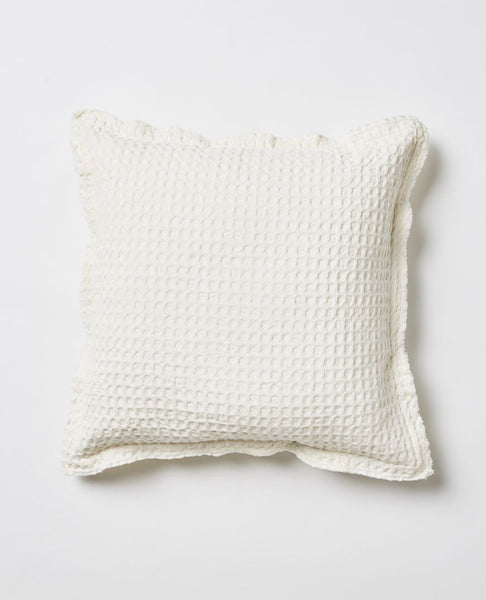 Papaya claude waffle cushion - available at The White Place