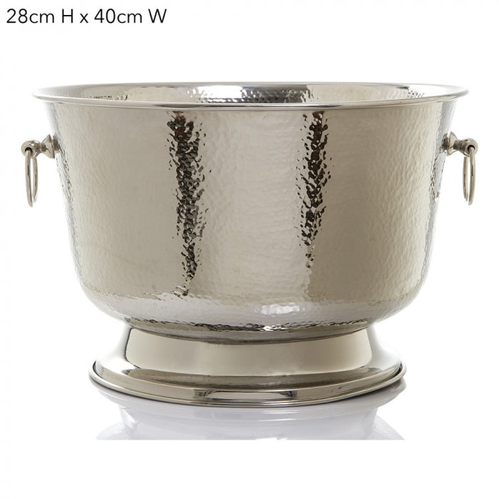 Large silver ice bucket