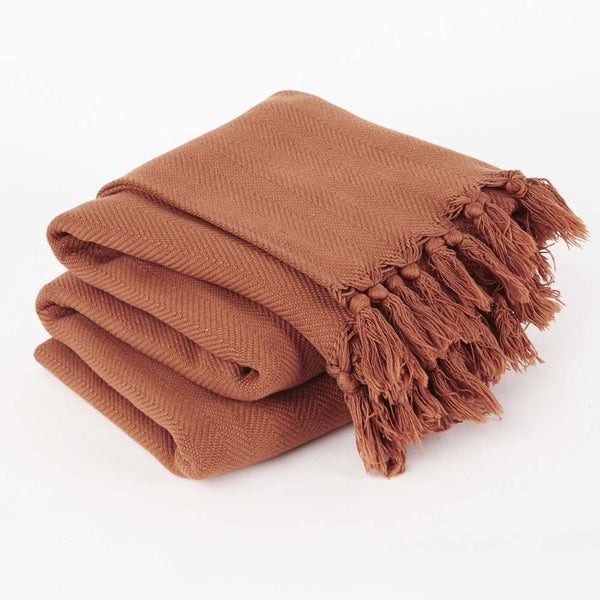 Tobacco Vintage Wash Throw