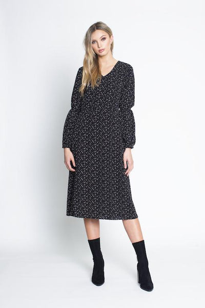 Spot dress with long sleeves - free shipping in australia