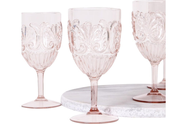 Acrylic wine glass - pink
