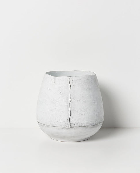 Papaya osona vase available at the white place, orange