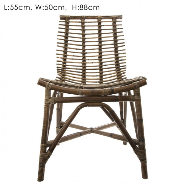 florabelle imports rattan dining chair available for purchase from the white place, orange nsw